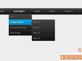 38 个免费开源的 CSS 下拉导航菜单