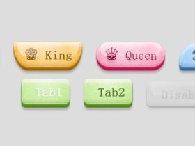 jQuery/CSS3经典按钮系列插件