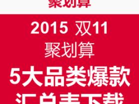 2015聚划算双11预售爆款清单—孕妇母婴亲子
