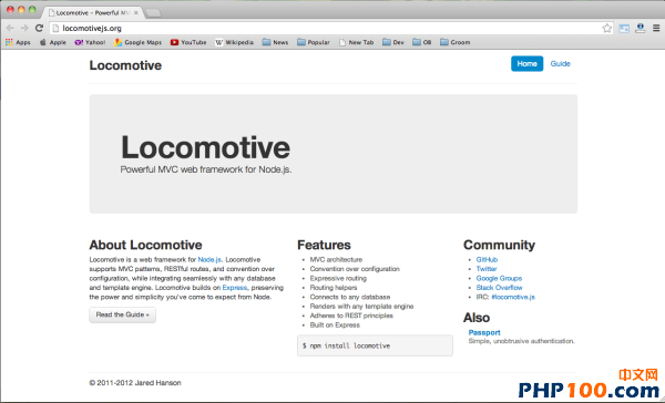 best node.js web framework - locomotive